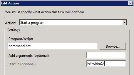 Scheduled Task To Run A Batch File | Richard Skinner