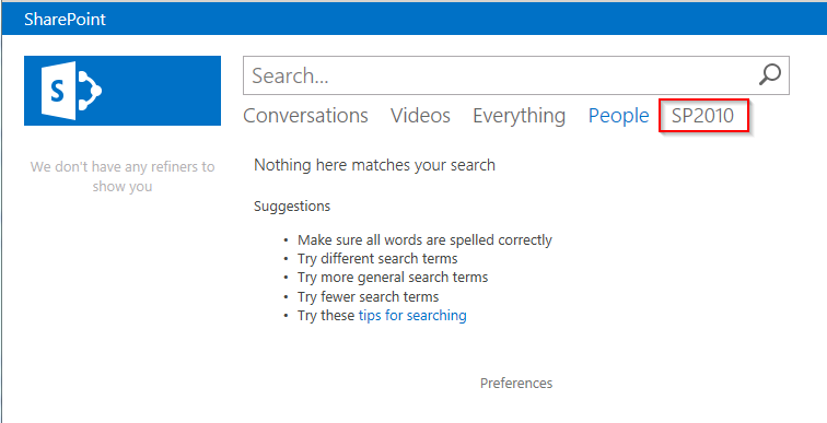 sharepoint search results