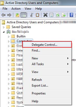 Create A Dedicated Account To Join Computers To A Domain