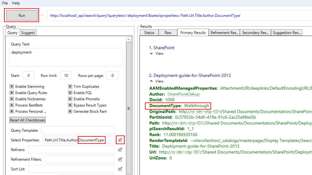 Using The Sharepoint 2013 Search Query Tool With Search Refiners Richard Skinner