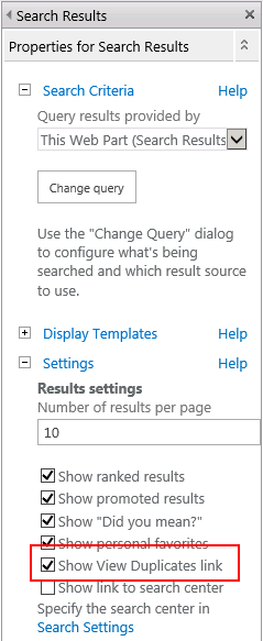 Viewing SharePoint 2013 Search Duplicates | Richard Skinner